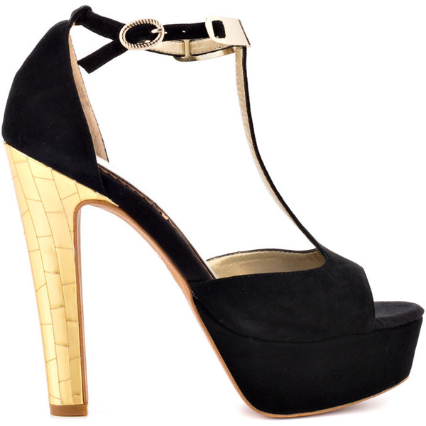 Circus by Sam Edelman Alexa - Blk Lt Gold Suede - Polyvore