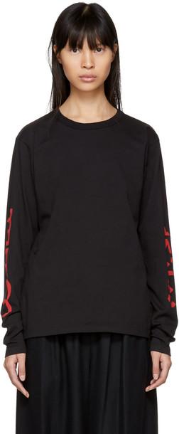 Bianca Chandon t-shirt shirt t-shirt long arabic black top