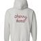 Cherry bomb hoodie back