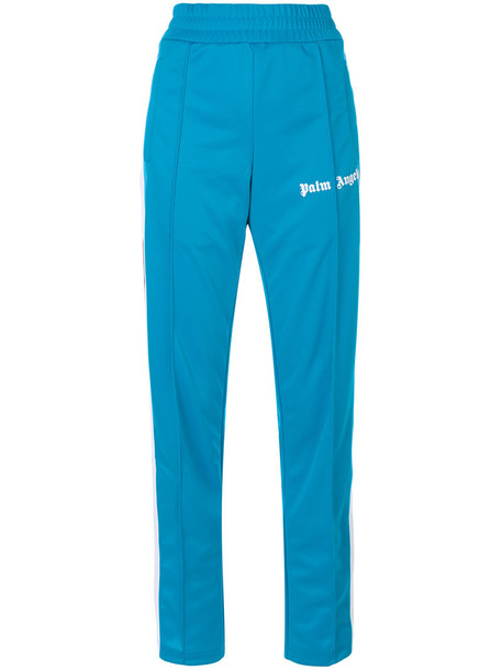 Palm Angels pants track pants long women blue