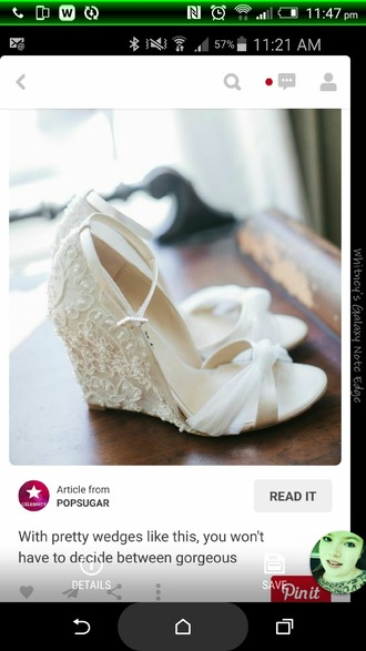 shoes wedding wedges lace