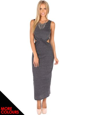 Knot cut out maxi dress
