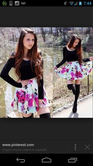 skirt pink skirt blue skirt floral skirt