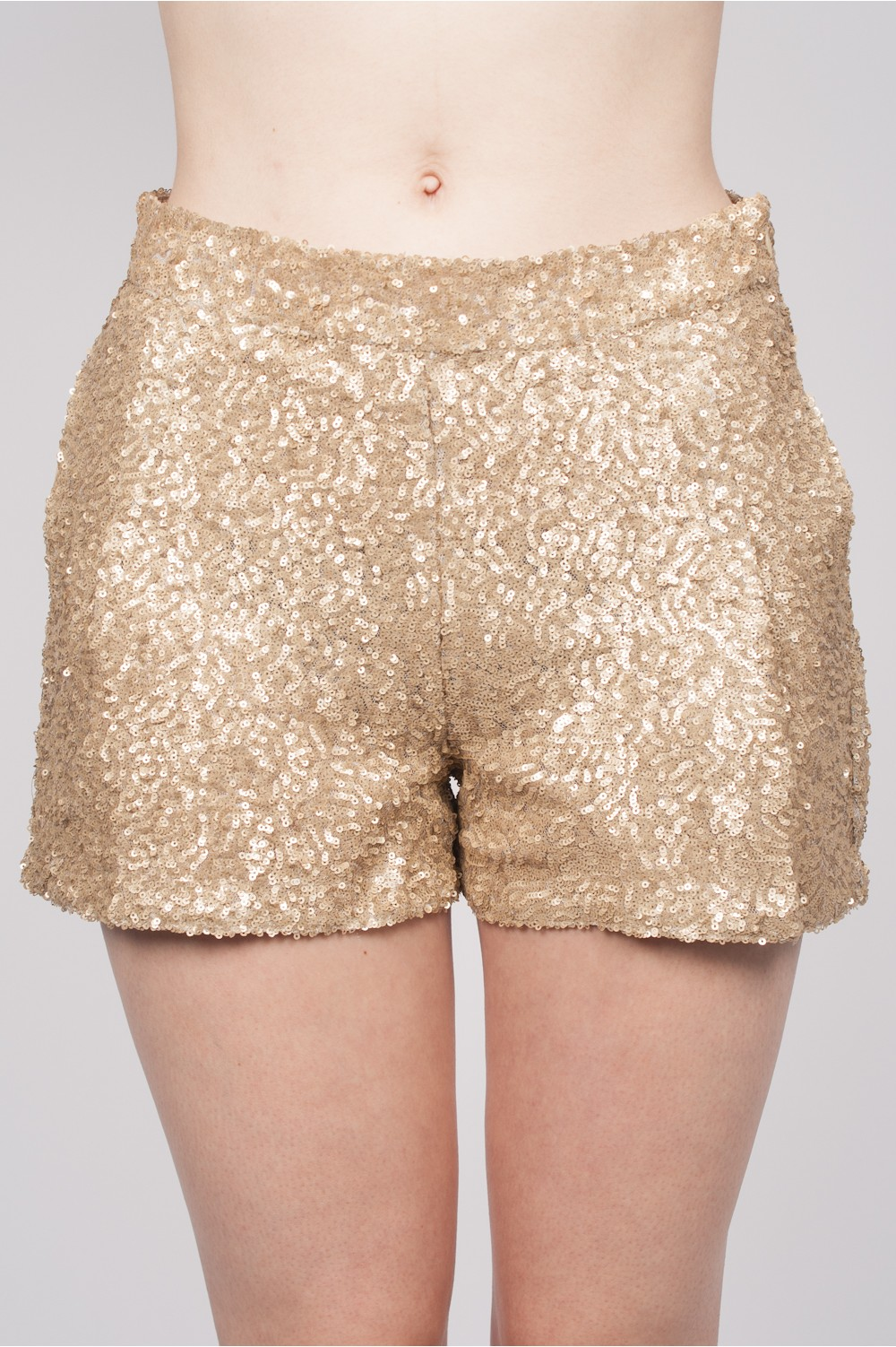 Harlee sequin shorts in gold