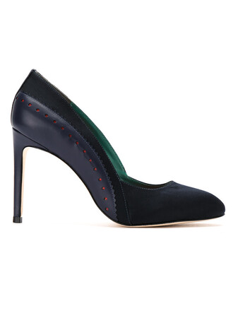 women pumps leather black shoes