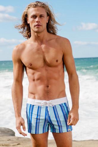 shorts blue mens mens sauvage swimwear mens swimwear print stripes bikiniluxe