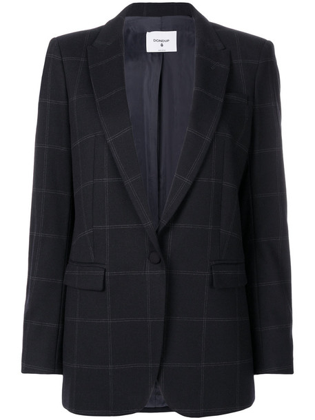 blazer women spandex blue wool jacket