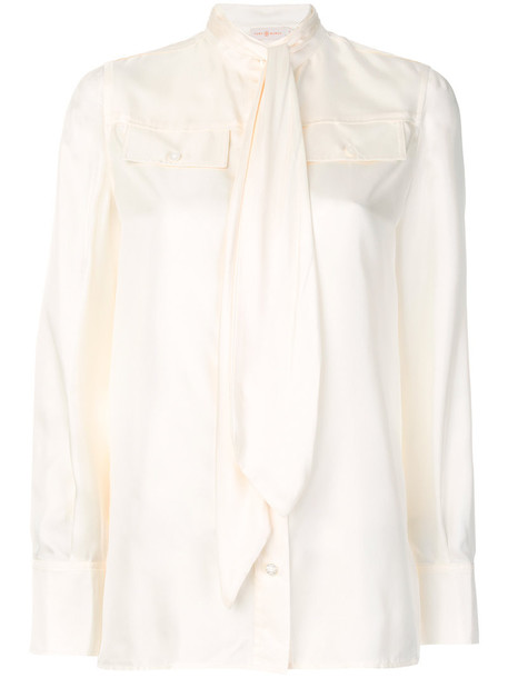 blouse women nude silk top