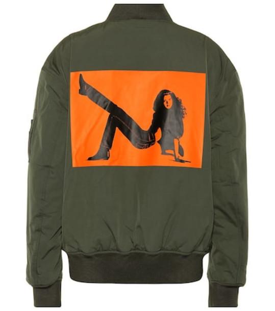 Calvin Klein Jeans Est. 1978 Printed bomber jacket in green