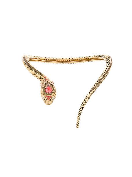 Roberto Cavalli snake metal women necklace grey metallic jewels