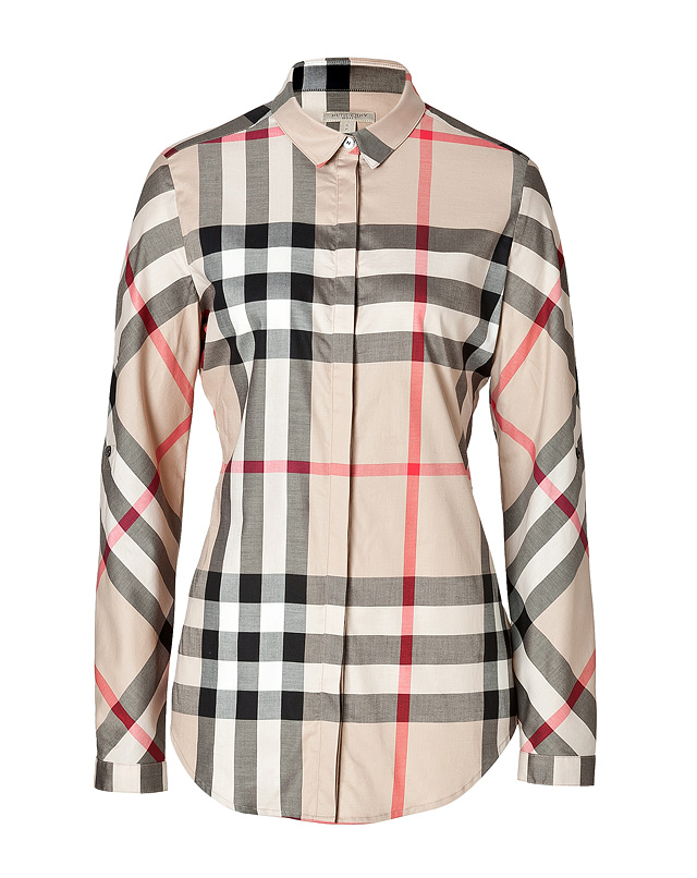 Stretch Cotton Shirt in New Classic Check from BURBERRY BRIT | Luxury fashion online | STYLEBOP.com