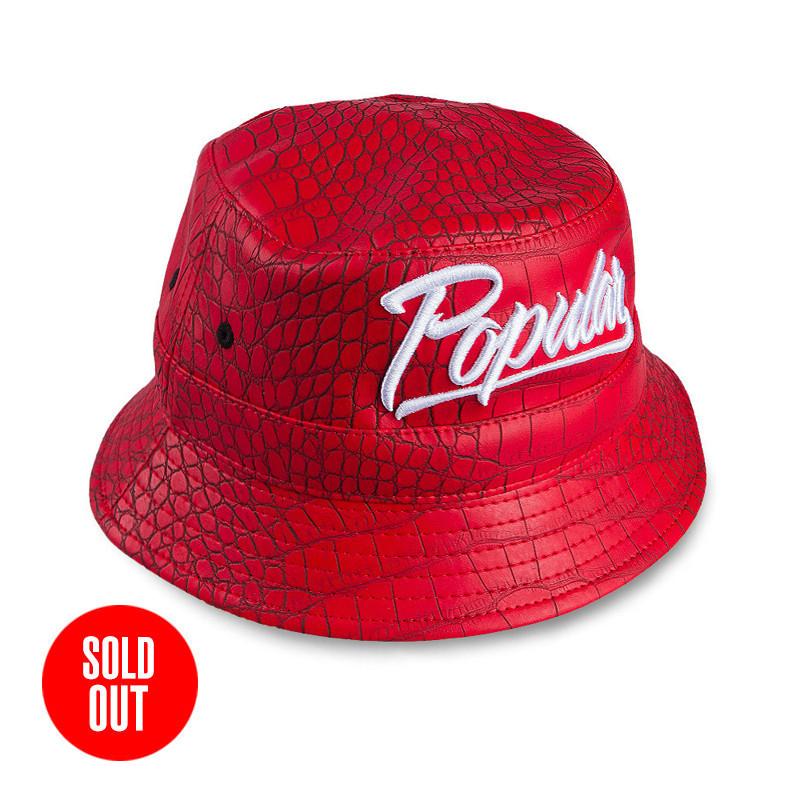 Croc Popular Script Bucket Hat   Red - Popular Demand 9f15a9253f3