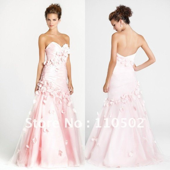 dress pink pink dress long prom dresses floral mermaid prom dresses