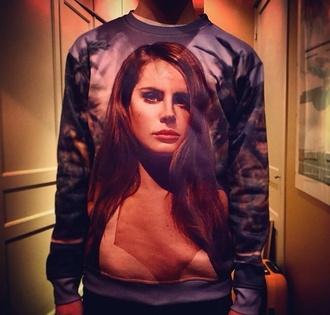 lana del rey printed sweater