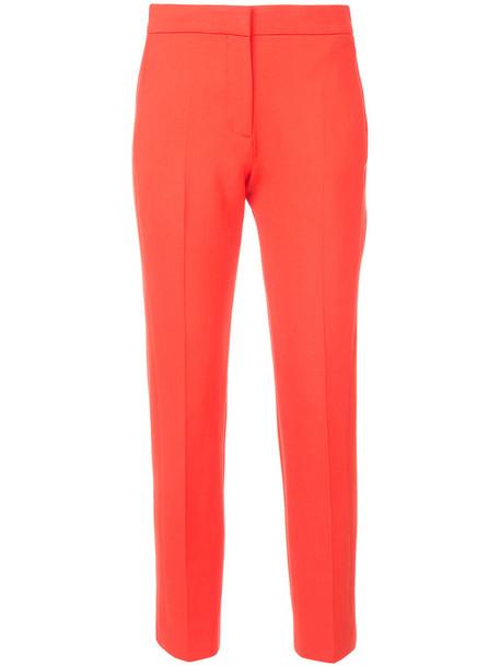Victoria Victoria Beckham cropped women spandex wool yellow orange pants