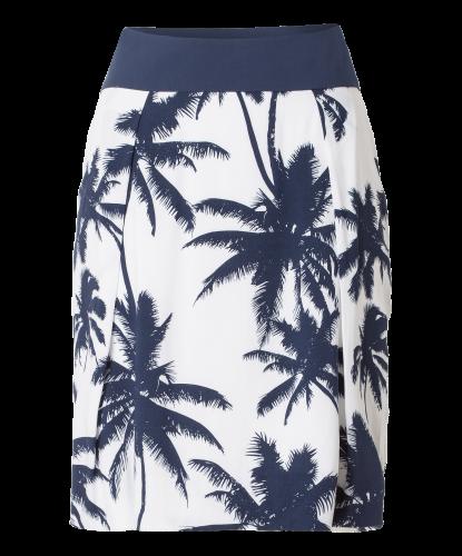 Viscose skirt palm print - white   Olsen.co.uk