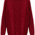 ROMWE | Basic Wine Red Knitted Jumper, The Latest Street Fashion