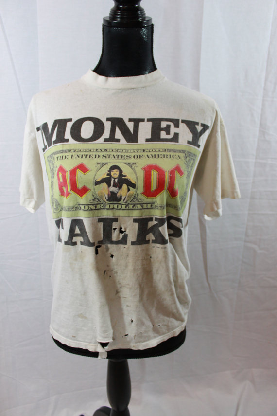 90s Money Talks ACDC Tshirt by myswagshack on Etsy
