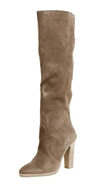Dolce Vita heel high knee high heel boots khaki shoes