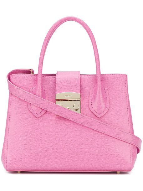 Furla women leather purple pink bag