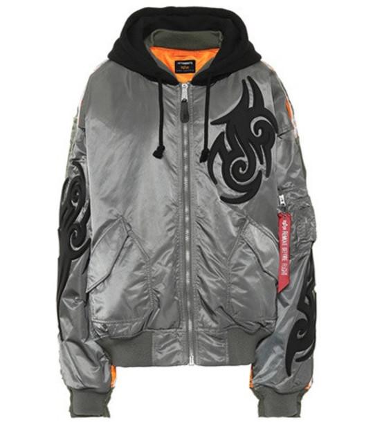 Vetements X Alpha Industries hooded jacket in grey