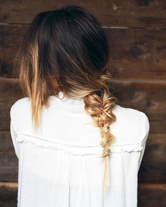 le fashion blogger ombre hair braid summer beauty