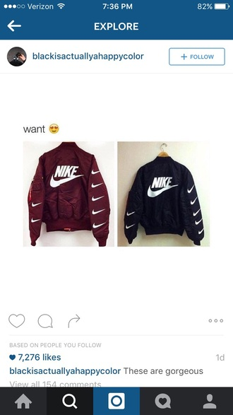 jacket sweater nike t-shirt black and white burgundy white black windbreaker tumblr vintage hipster