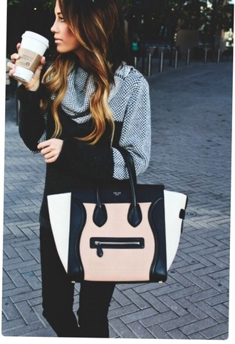 bag colorblock pretty handbag