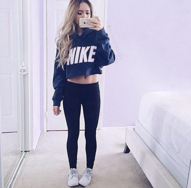 sweater, nike, crop tops, cropped sweater, cropped hoodie