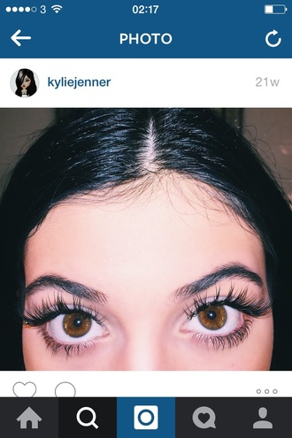 make-up kylie jenner kardashians lashes