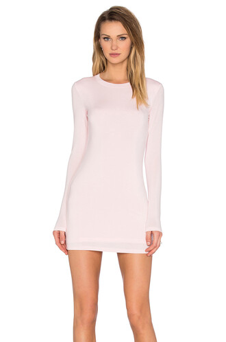 dress long sleeve dress long pink