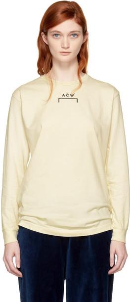 A-cold-wall* t-shirt shirt t-shirt long white off-white top