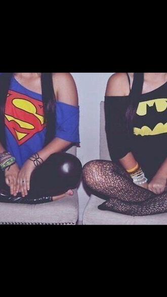 sweater batman superman bff