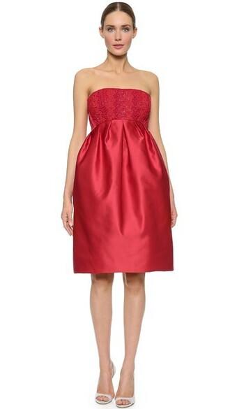 dress strapless dress strapless red