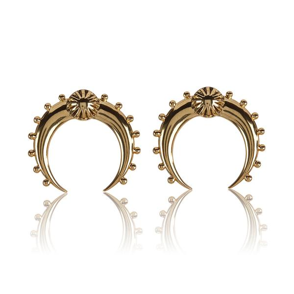 Crescent Hoops- Gold | Luv Aj