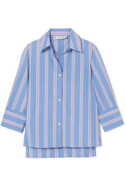 MARNI shirt cotton blue top