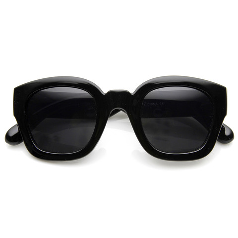 Retro Era Thick Square Frame Hipster Sunglasses 8969                           | zeroUV