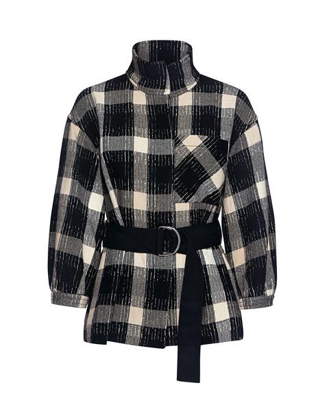 DEREK LAM 10 CROSBY jacket wool jacket plaid white black wool