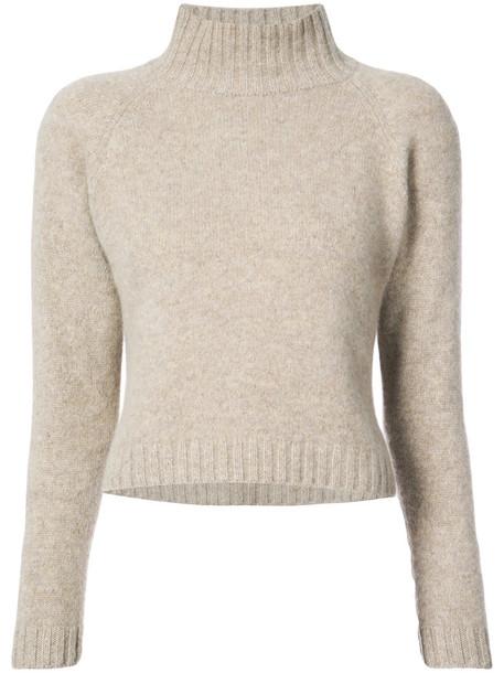 The Elder Statesman jumper cropped jumper cropped women nude sweater