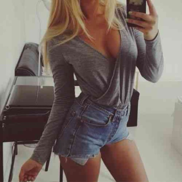 Long Sleeve Blouse And Shorts 34