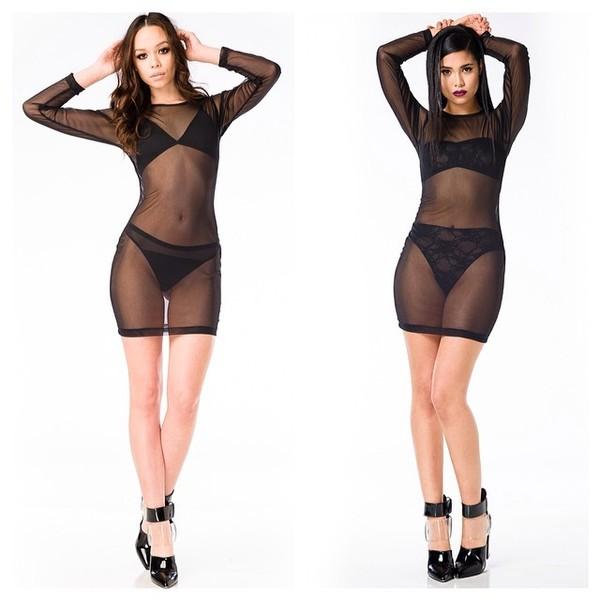 dress swimwear cover up mesh sheer
