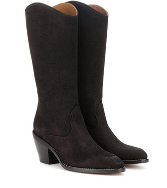 boots suede boots suede black shoes