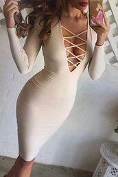 dress,sexy,strappy,nude,party,bodycon dress,midi dress,long sleeves,boho dress,black dress,maxi dress,summer dress,sexy dress,nude dress,nude high heels,nude heels,all nude everything,girl,girly,girly wishlist,instagram,style,outfit,beige,christmas,sexy shoes,party dress,tan,cream,criss cross,long sleeve dress,trendsgal,beige dress,bodycon,lace up dress,lace-up dresses,pastel pink,fashion,midi,lace up,sexy party dresses,party outfits,summer outfits,spring dress,spring outfits,fall dress,fall outfits,winter dress,winter outfits,classy dress,elegant dress,cocktail dress,birthday dress,romantic dress,romantic,clubwear,club dress,engagement party dress,cute dress,girly dress,cute