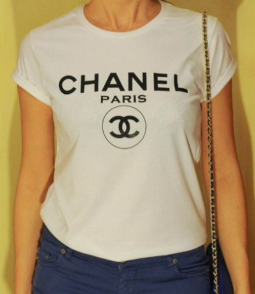 chanel t-shirt chanel t-shirt chanel shirt vogue chanel paris shirt shirt