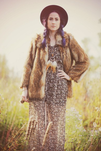 folk boho blogger jewels like a riot faux fur dreamcatcher dreamcatcher necklace