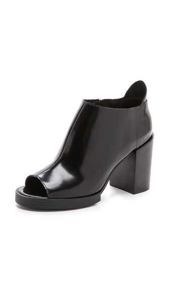 Cheap monday layer peep toe booties