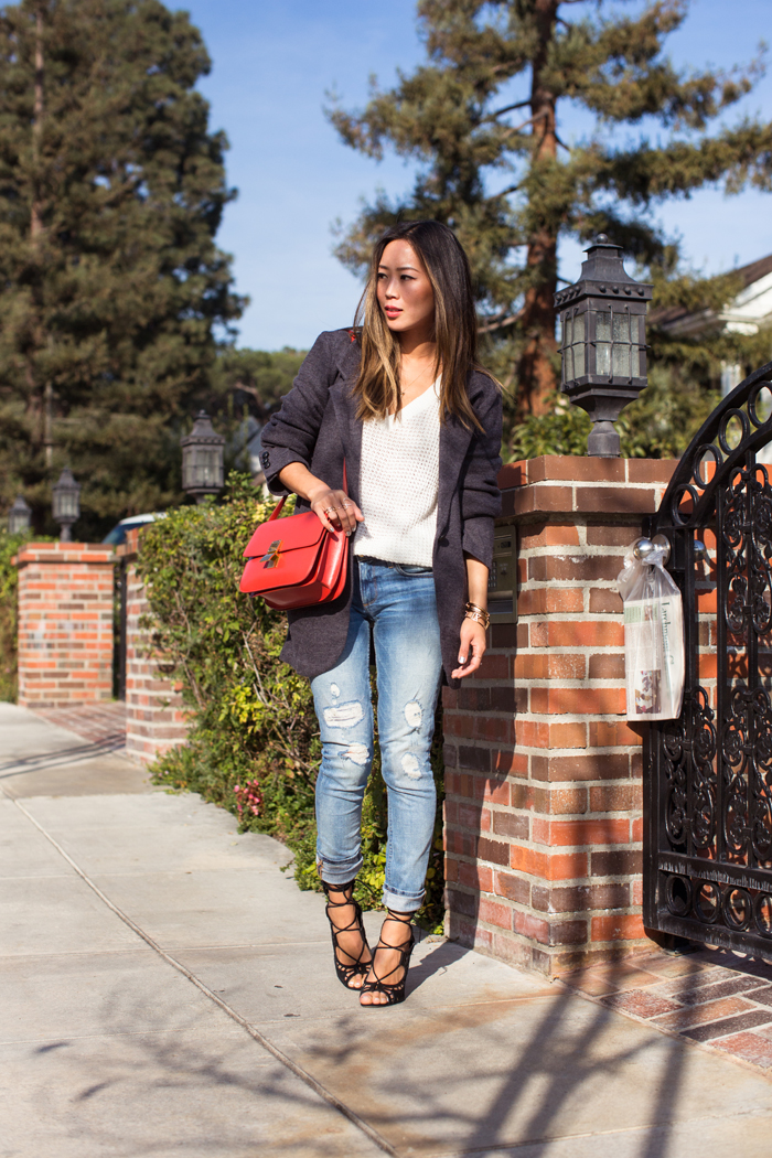Oversized Blazer and Distressed Skinnies | Song of Style