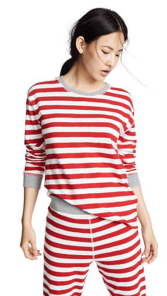 Sleepy Jones Helen Long Sleeve Shirt in red