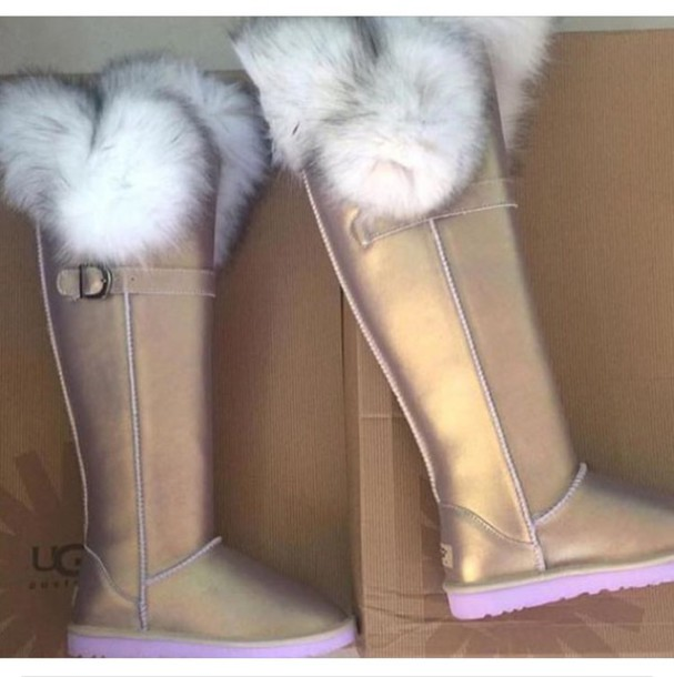 shoes ugg boots ugg boots fur boots fur uggs boots tall metallic uggs boots cute ugg boots pink fur gold gold uggs gold fur pearl uggs furry uggs pink ugg fashion girly winter boots knee high boots ugg boots authentic metallic winter outfits faux fur metallic tall ugg boots shimmer tall boots furry boots uggs. fur
