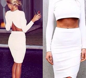 skirt midi skirt midi white white crop tops white skirt sets style co ordinates